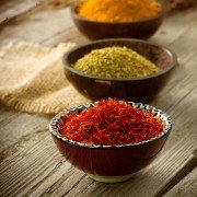 Spice - bowls of spice for Indian cooking