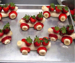 childrens-cooking-class - banana cars
