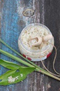 Coconut zesty citrus rosemary scrub open 2