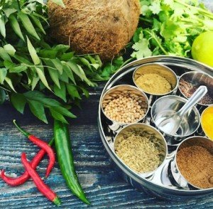Indian Spice Cooking Class - collection of herbs & spices for Indian cooking