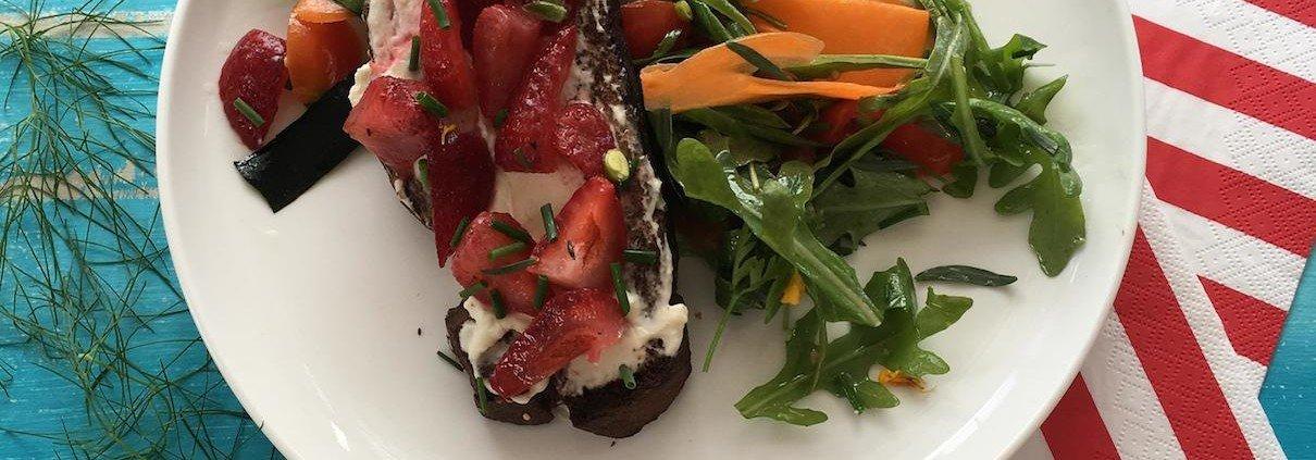 Breakfast salad by Chef Dominique Rizzo