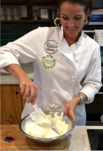 How to cook labneh - Dominique making labneh
