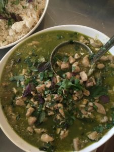 Pad Thai & Chicken Green Curry - dish of Thai green chickencurry
