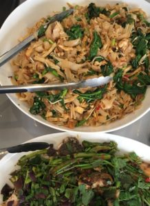 Pad Thai & Chicken Green Curry - dish of pad-thai