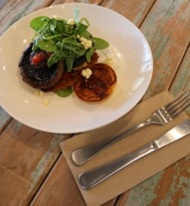 What is the cuisine at Putia Pure Food Kitchen - middle-eastern-mushrooms