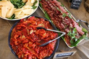 Italian Long Table Lunch - Salami cheese antipasto Putia Pure Food Kitchen