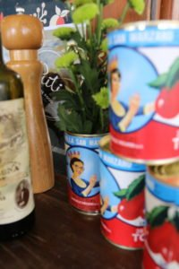 Italian Long Table Lunch - Tins of tomatoes Putia Pure Food Kitche