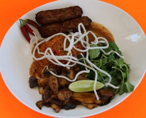 Going Vegan at Putia - Putia's vegan Nasi Goreng with Vegan sausages