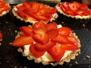 Vegetarian Mediterranean Cooking Class with a Difference - No bake Strawberry and mascarpone tart Chef Dominique Rizzo