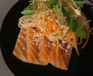Flavours from a chef's kitchen - Sashimi salmon